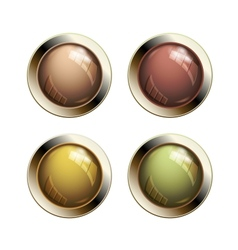 Old shiny buttons vector image