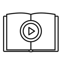 online book learning icon outline style vector image