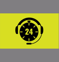 Open around the clock 24 hours a day icon vector