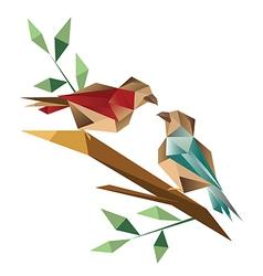 Origami sparrow vector