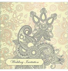 Ornate frame wedding invitation vector