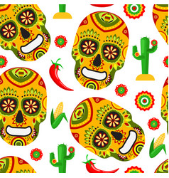 pattern for mexican day of the dead vector image