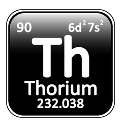 Periodic table element thorium icon vector image