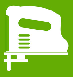 pneumatic gun icon green vector image
