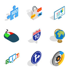preview icons set isometric style vector image