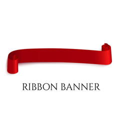 Red web ribbon banner for vector