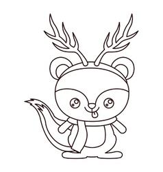 Reindeer cartoon of Merry Christmas design vector image