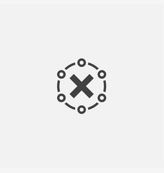 Rejected base icon simple sign vector