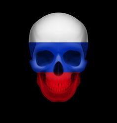 Russian flag skull vector