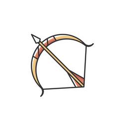 Sagittarius sign rgb color icon vector
