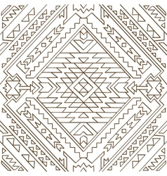 Seamless aztec pattern Line vector