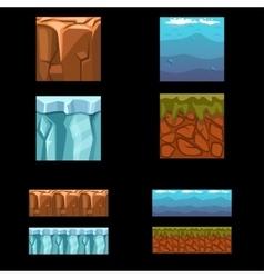 Seamless landscape square elements set vector