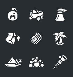 set coal icons vector image