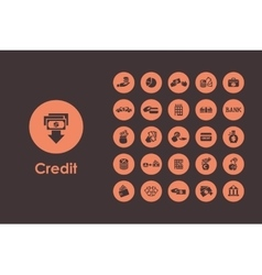 Set of credit simple icons vector image