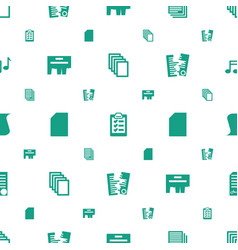 Sheet icons pattern seamless white background vector