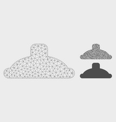 shower head mesh 2d model and triangle vector image
