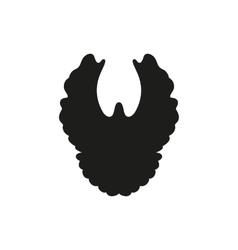silhouette simple black dove vector image