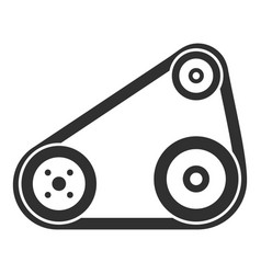 timing belt icon simple style vector image