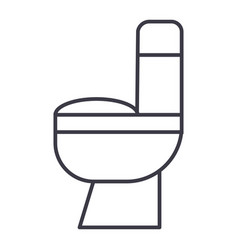 toilet line icon sign on vector image