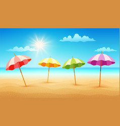 Tropical beach in sunny day vector