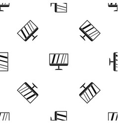 tv pattern seamless black vector image