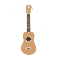 Ukulele hawaiian guitar Isolated on white vector image
