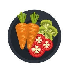 Vegetable healthy food icon vector