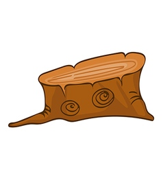 big tree stump vector image