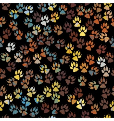 dog paw prints vector image vector image