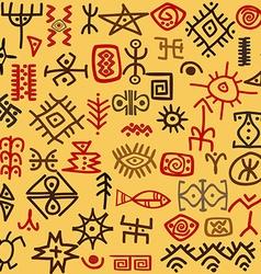Ethnic symbols background vector image