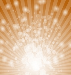 Abstract bokeh on orange background vector