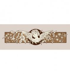baroque angel vector image vector image
