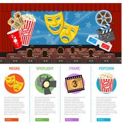 Cinema and movie infographics vector