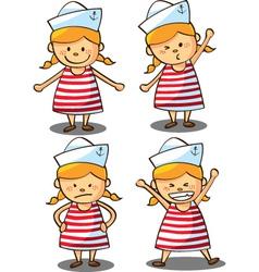 cute girl wearing sailor uniform vector image