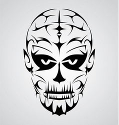 Face Tribal vector image