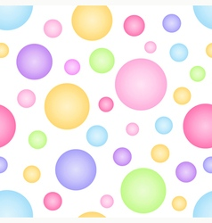 Geometric seamless pattern with circles vector