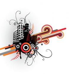 grunge cityscape vector image