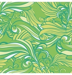seamless pattern in green vector image vector image