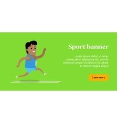 Summer games colorful banner athletics sport vector