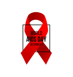 aids awareness day background vector image