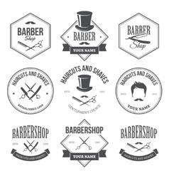 Barber Shop Labels vector image