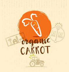 local farm carrot hand drawn organic vegetable vector image