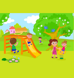 people having fun in park vector image vector image