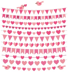 romantic decoration set vector image vector image