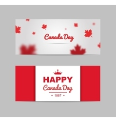 Set of design elements for Canada Day 1st of July vector image