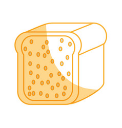Toasted bread loaf vector