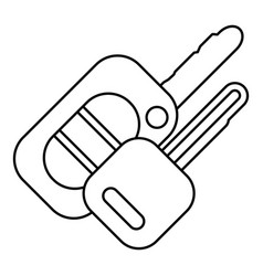 auto key icon outline style vector image vector image