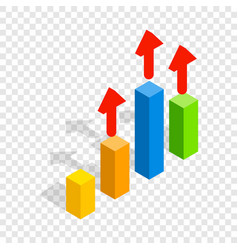 growth chart isometric icon vector image
