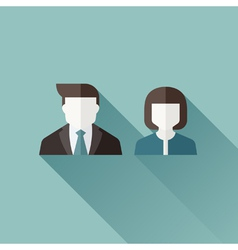 Male and female user icons vector image