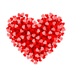 red heart made of small valentines day card vector image vector image